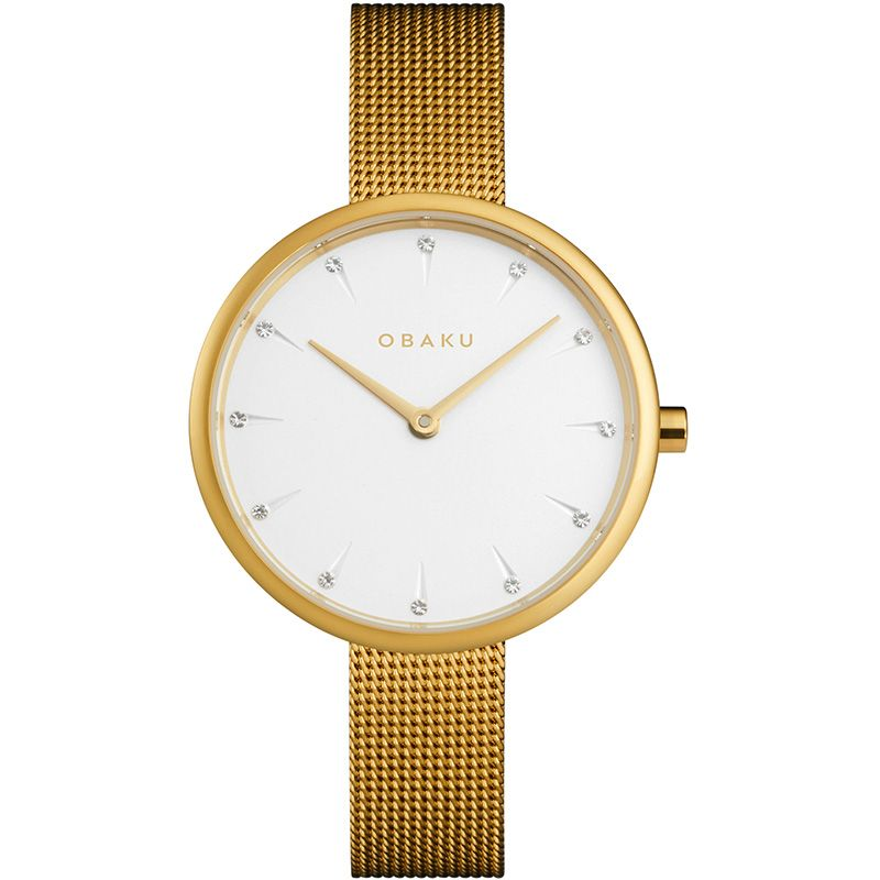 Obaku Women watch NOTAT - GOLD FRONT view
