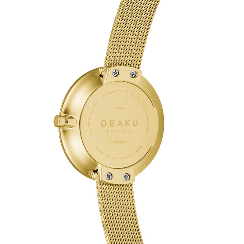 Obaku Women watch NOTAT - GOLD BACK view