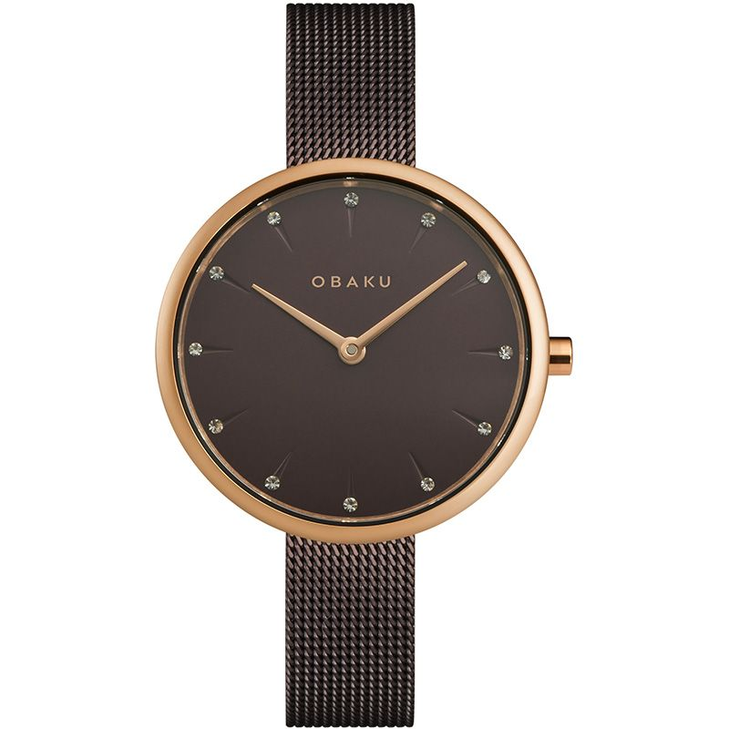 Obaku Women watch NOTAT - WALNUT FRONT view