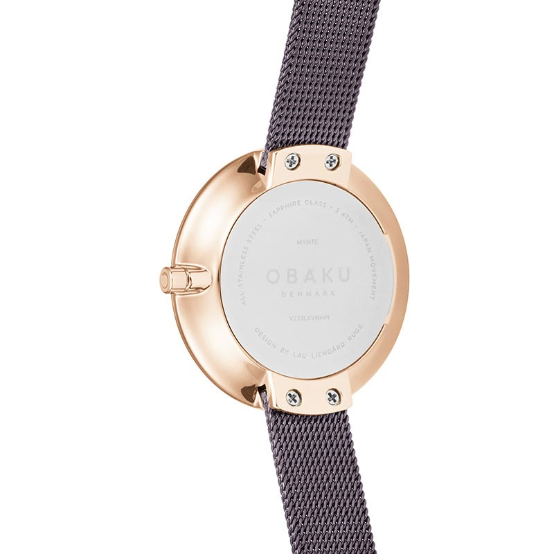 Obaku Women watch NOTAT - WALNUT BACK view