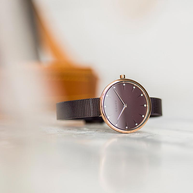 Obaku Women watch NOTAT - WALNUT SM1 view