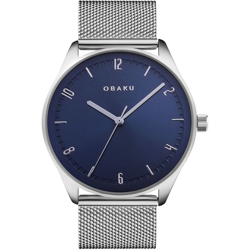 Obaku Men watch AGER - CYAN FRONT view