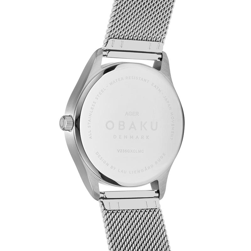Obaku Men watch AGER - CYAN BACK view