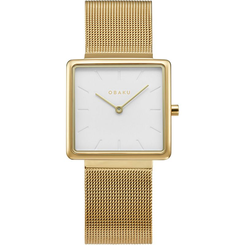 Obaku Women watch KVADRAT - GOLD FRONT view