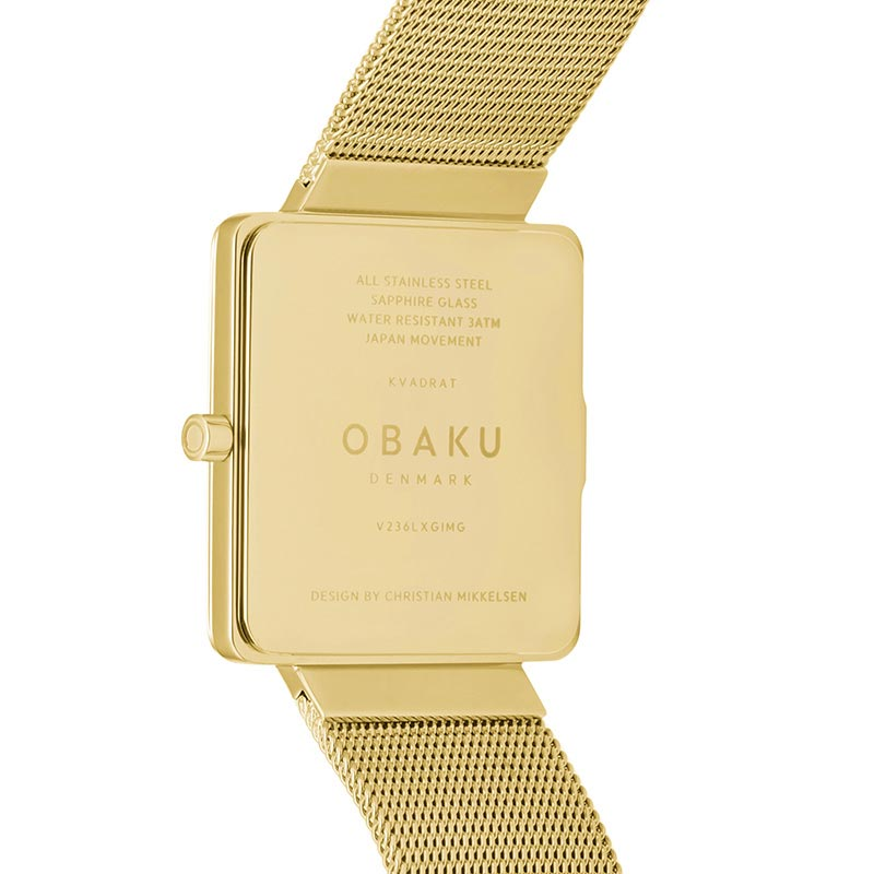 Obaku Women watch KVADRAT - GOLD BACK view