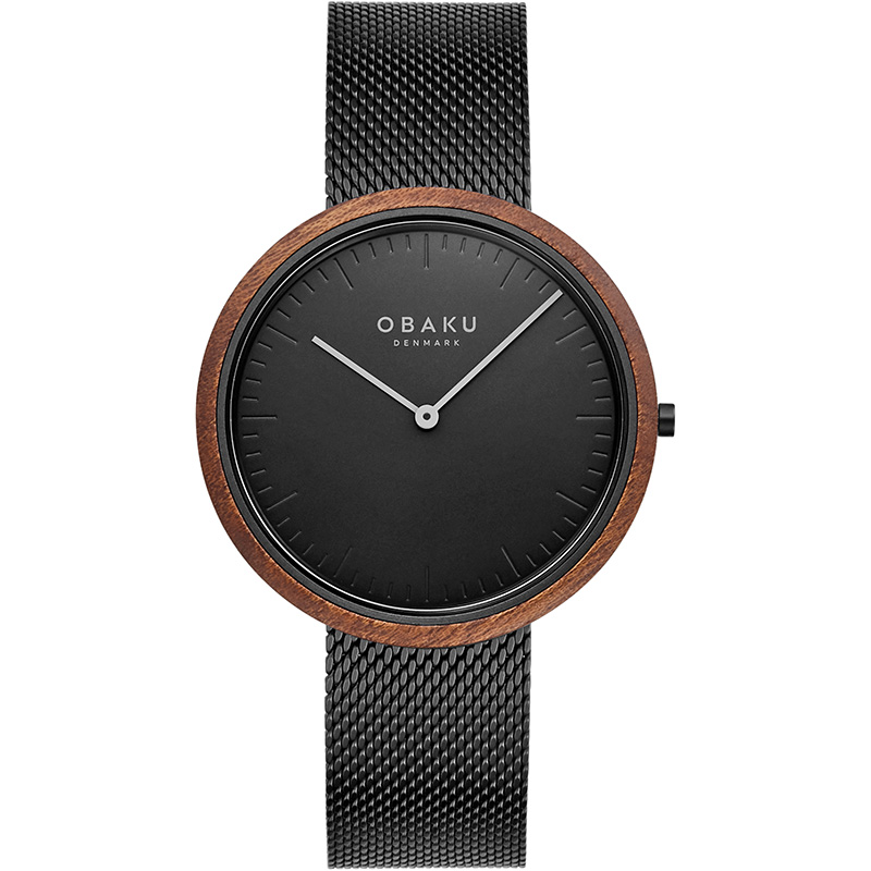 Obaku Men watch TRAE - CHARCOAL FRONT view