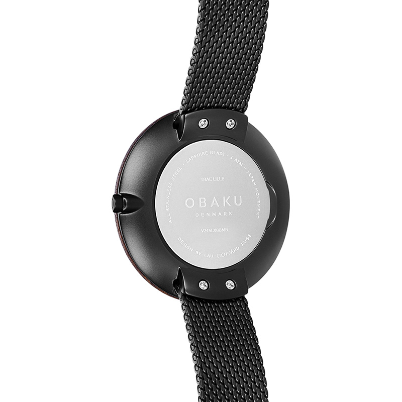 Obaku Women watch TRAE LILLE - CHARCOAL BACK view