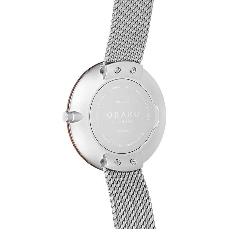 Obaku Women watch TRAE LILLE - STEEL BACK view
