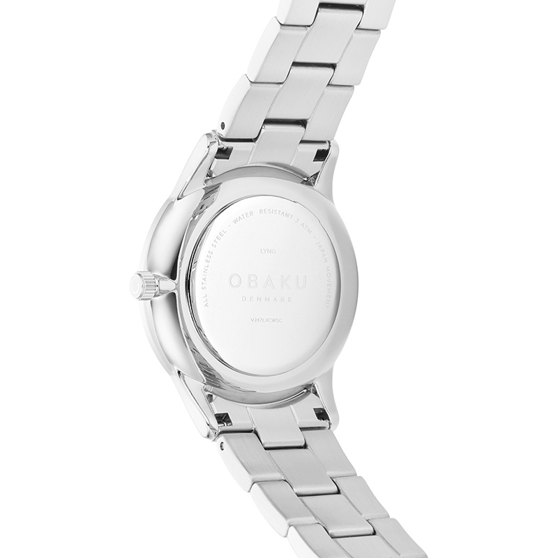 Obaku Women watch LYNG LILLE - STEEL BACK view