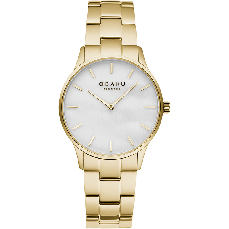 Obaku Women watch LYNG LILLE - GOLD FRONT view