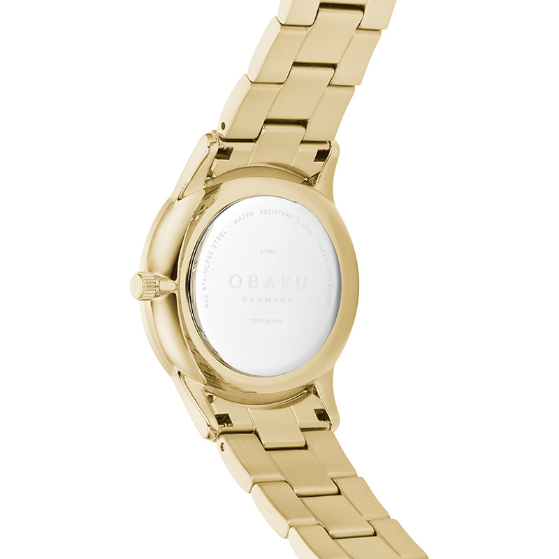 Obaku Women watch LYNG LILLE - GOLD BACK view