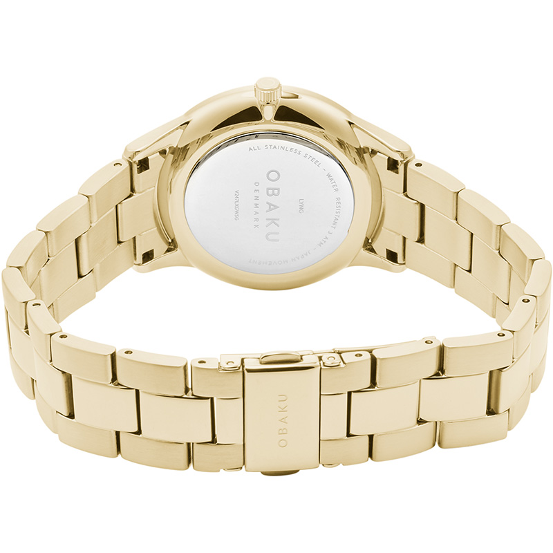 Obaku Women watch LYNG LILLE - GOLD CLOSE view