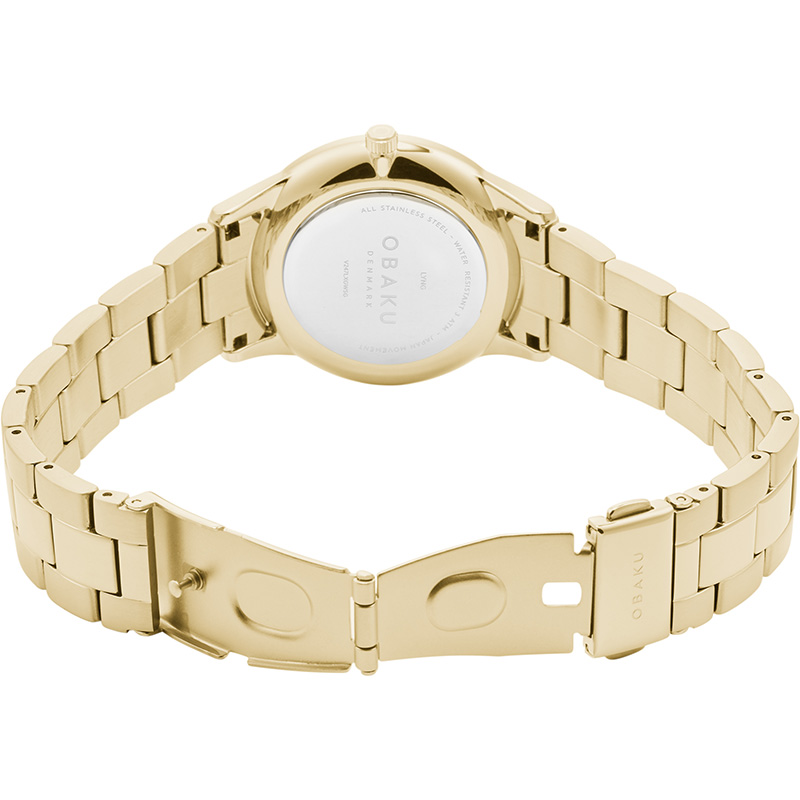 Obaku Women watch LYNG LILLE - GOLD OPEN view