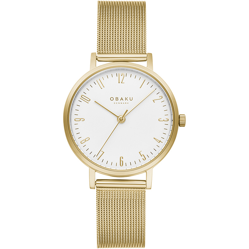 Obaku Women watch BRINK LILLE - GOLD FRONT view