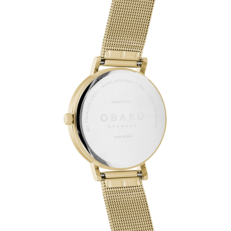 Obaku Women watch BRINK LILLE - GOLD BACK view