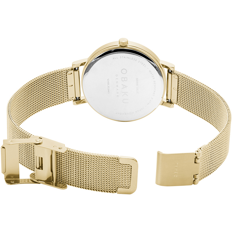 Obaku Women watch BRINK LILLE - GOLD OPEN view
