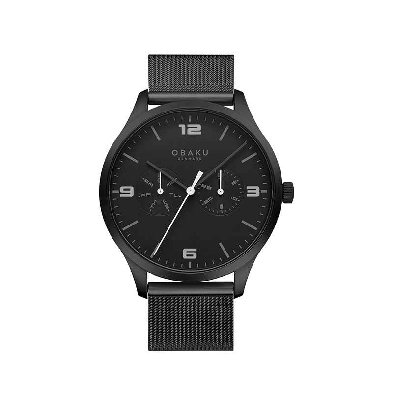 Obaku Men watch ASK - CHARCOAL FRONT view