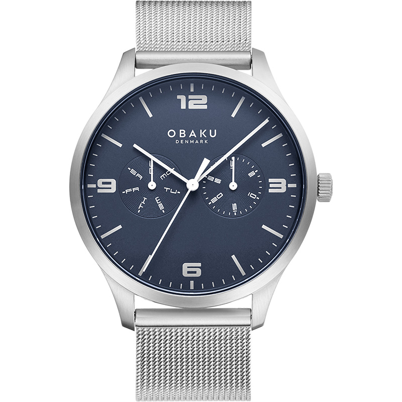 Obaku Men watch ASK - CYAN FRONT view