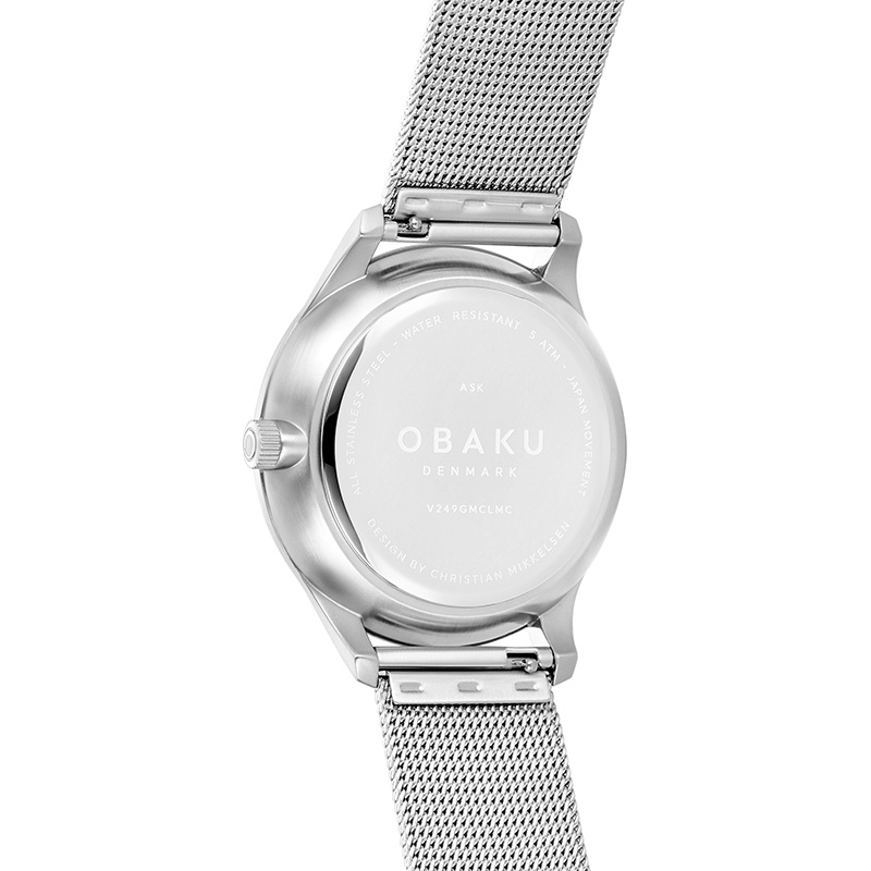Obaku Men watch ASK - CYAN BACK view